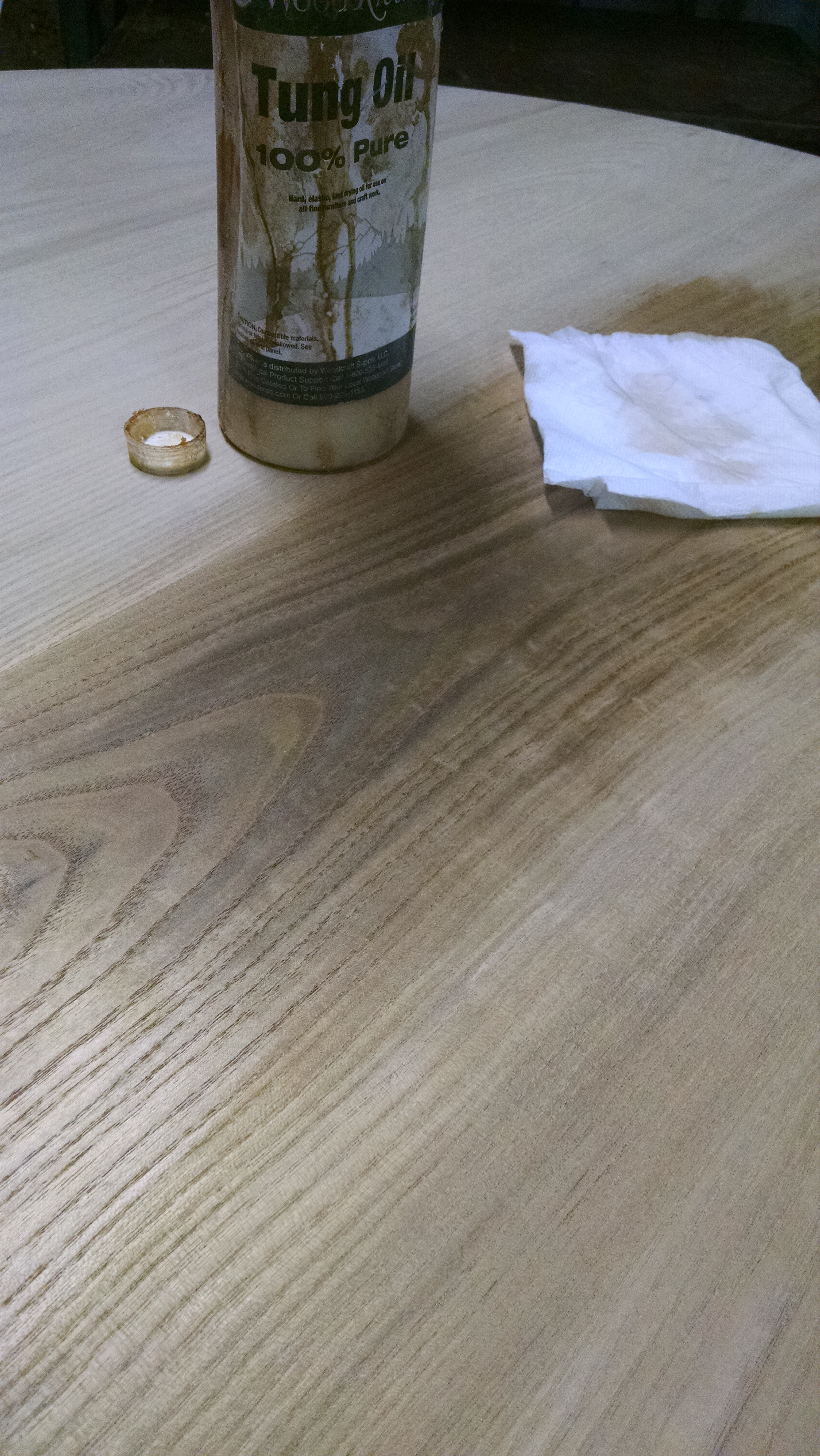After a couple of days of drying  the less fun parts must commence  I lay  out the pieces and start with some aerosol shellac  I used to brush  shellac. Sassafras Kitchen Table   A Riving Home
