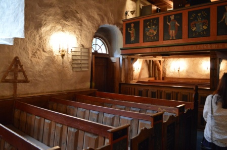 The joined pews should be very familiar to Peter Follansbee.