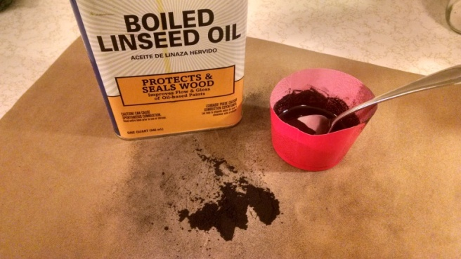 Tinted Linseed Oil